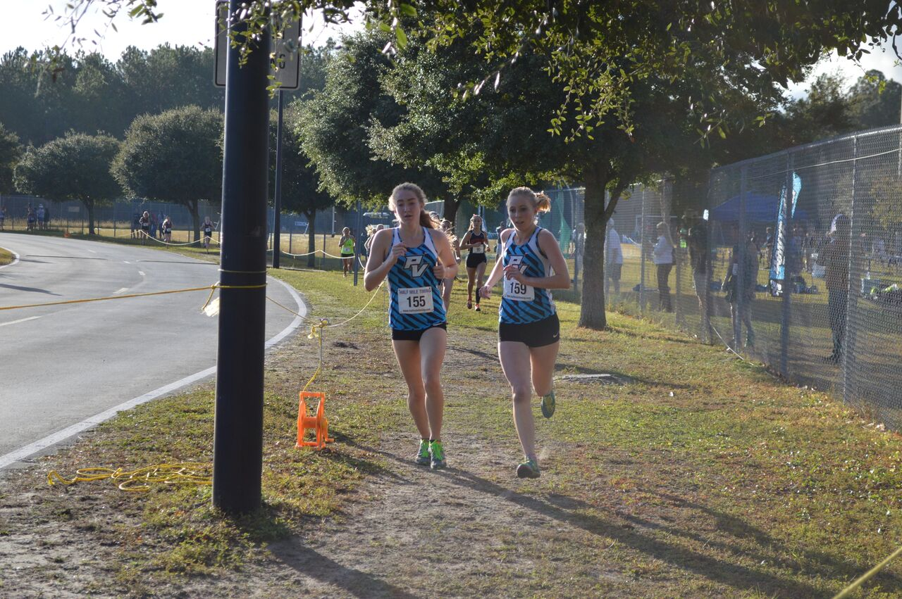 PVHS XC Claire Moritz and Abby Reimer 1512