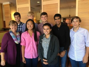 Photo provided by The Bolles School.  The Bolles Brain Brawl team members include Evan Siewert (Captain), Amy Song, Anthony Hakim, Harrison Dinsbeer, Kunal Kanaparti, Robert Pooley and Isabella Array. The team is coached by Melissa Tyler and Clare Lange.