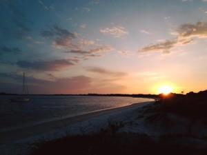 Day 12 - sunset at Huguenot