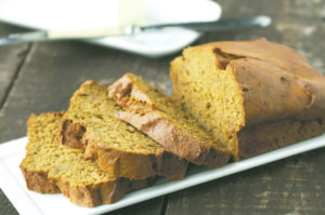 17654716 - fresh homemade baked autumn pumpkin quick bread