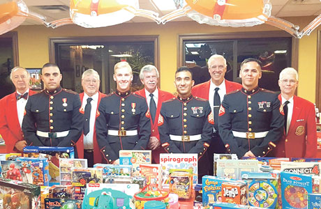 Riverwood Poker Club and United States Marine Corps Reserve collaborate on fifth annual toy drive