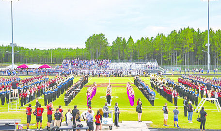 High school bands enjoy friendly rivalry