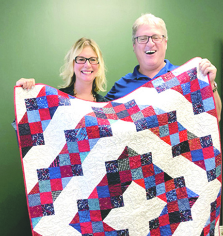 American Legion Post finally receives patriotic quilt for fundraiser