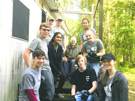 Creekside engineering students take unexpected trip to 1944 during building project