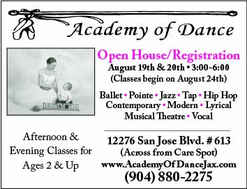 Academy of Dance Open House & Registration August 19th and 20th 3pm to 6pm Classes start August 24th! Ballet, Pointem Jazz, Hip Hop Contemporary, Modern, Lyrical, Music Theatre, Vocal