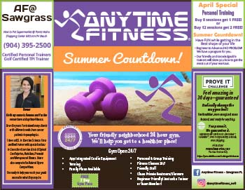 Anytime Fitness summer countdown! Your friendly neighborhood 24 hour gym.