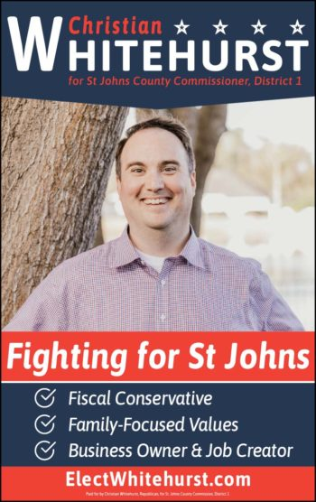 Vote for Christian Whitehurst! for St. Johns county commissioner, District 1