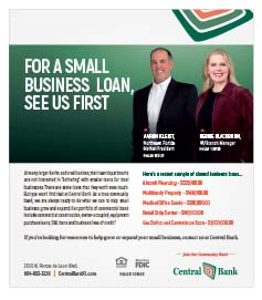 Central Bank, Come see us for a small business loan!