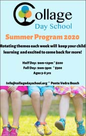 College Day School Summer Programs 2020. Rotating themes each week will keep your child learning and excited to come back for more!