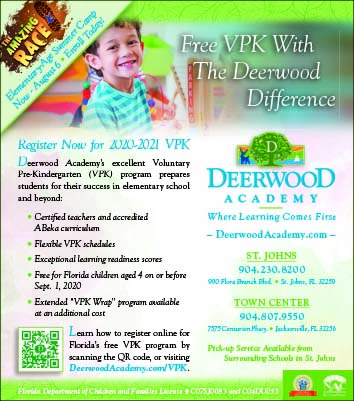 Deerwood Academy register now for 2020-2021 VPK