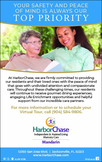 HarborChase independent & assisted living Memory Care Mandarin. Your safety and peace of mind is always our Top Priority