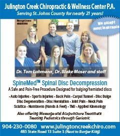 Julington Creek Chiropractic & Wellness Center P.A. serving st. johns county for nearly 21 years