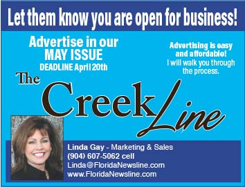 Advertise in our May Issue The Creek Line