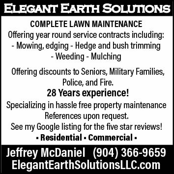 Ellegant earth solutions complete lawn maintenance with 28 years experience, complete lawn maintenance