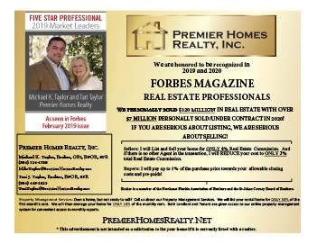 Premier Homes Realty Inc. Michael Taylor and Tari Taylor