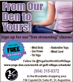 Yoga den! Sign up for our live stream classes