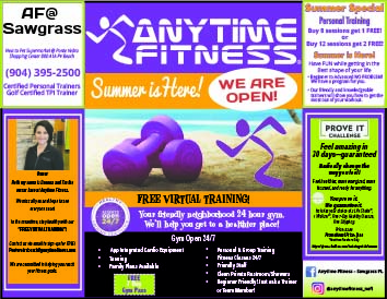 Anytime Fitness! Summer is Here! We Are Open!