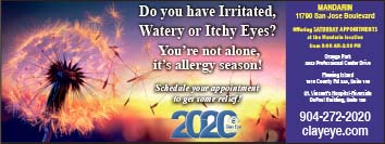 Irritated Eyes? Your not alone its allergy season! Schedule an appointment with clayeye for some relief!