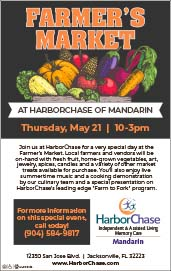 Farmer's Market at harborchase of Mandarin Thursday may 21st 10am - 3pm