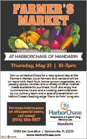 Farmer's Market at harborchase of Mandarin Thursday may 21st 10am - 3pm