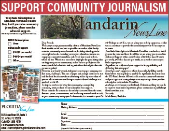 Support community journalism! Subscribe to the Mandarin Newsline today!