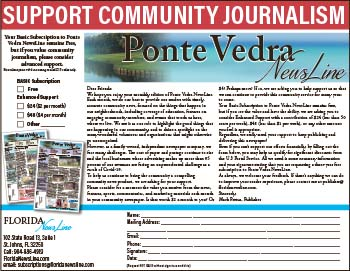 Support Community Journalism in Ponta Vedra NewsLine