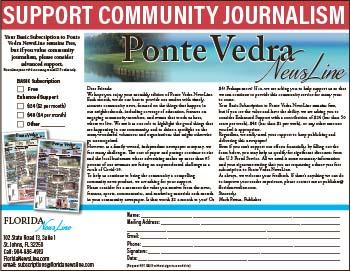 Support Community Journalism in Ponta Vedra NewsLine