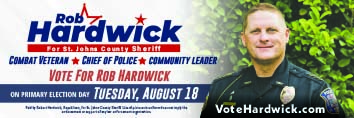 Vote Rod Hardwick for st johns county sheriff Working together for the strength of our community during challenging times