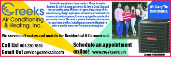 Creeks Air Conditioning & Heating. We service all makes and models for residential and commerical!