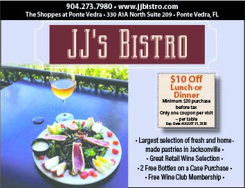JJs Bistro $10 off lunch or dinner