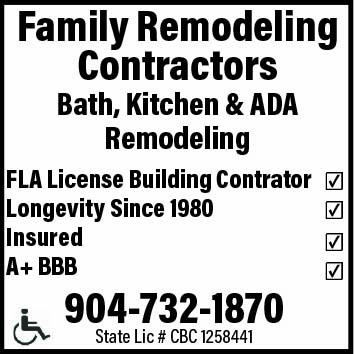 Family Remodeling Contractors! Bath, Kitchen &ADA Remodeling