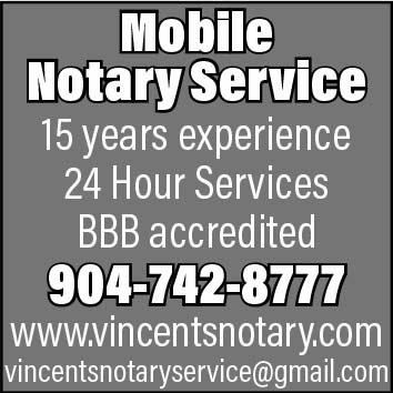 Mobile Notary Service. 15 years experience, 24 hour services