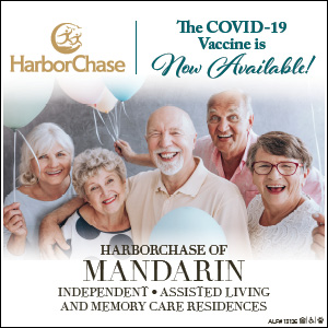 Harbor Chase! The Covid-19 vaccine is now available! Harborchase of Mandarin Independent, assisted living and memory care residences.
