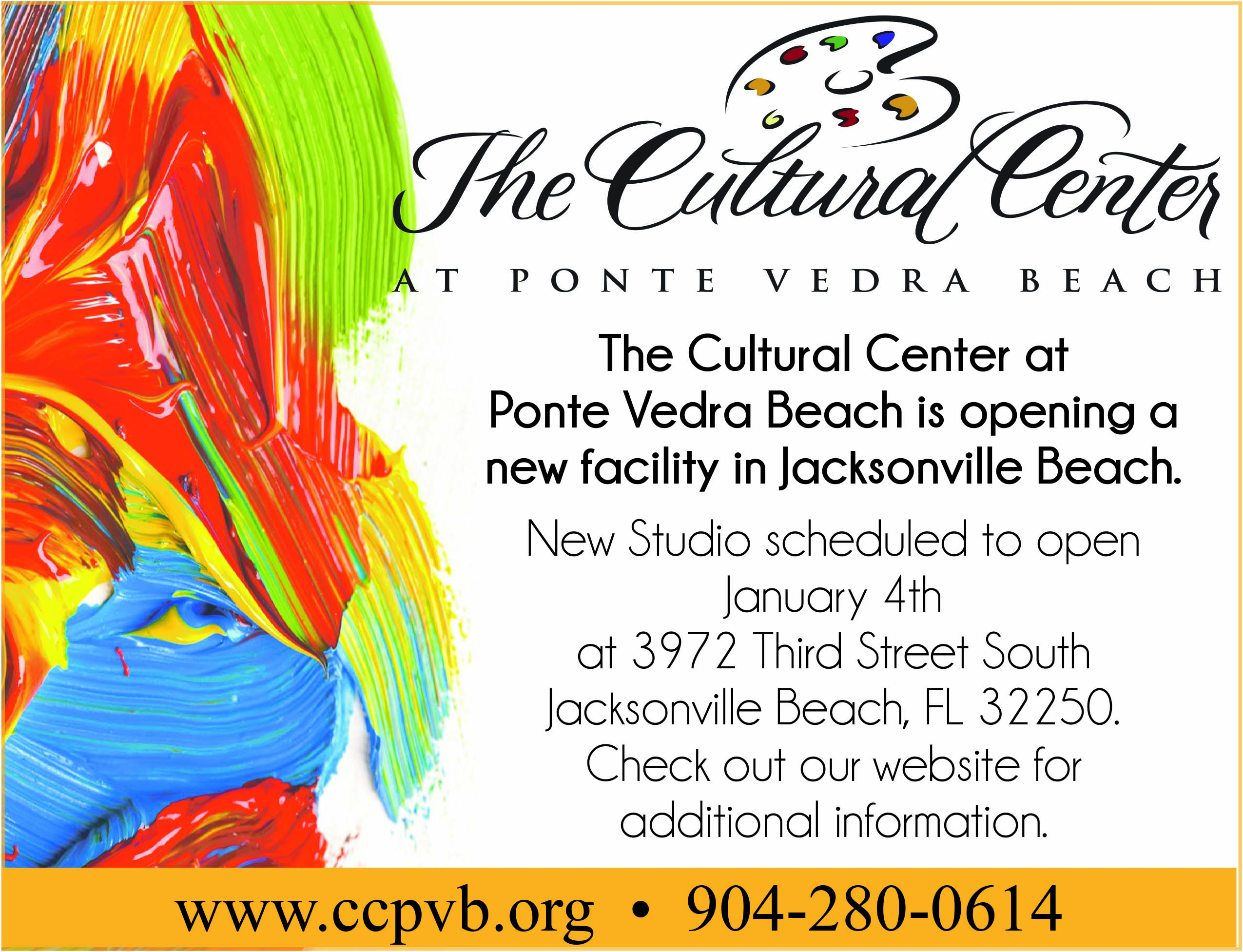 The cultural center at ponte vedra beach is opening a new facility in Jacksonville Beach.