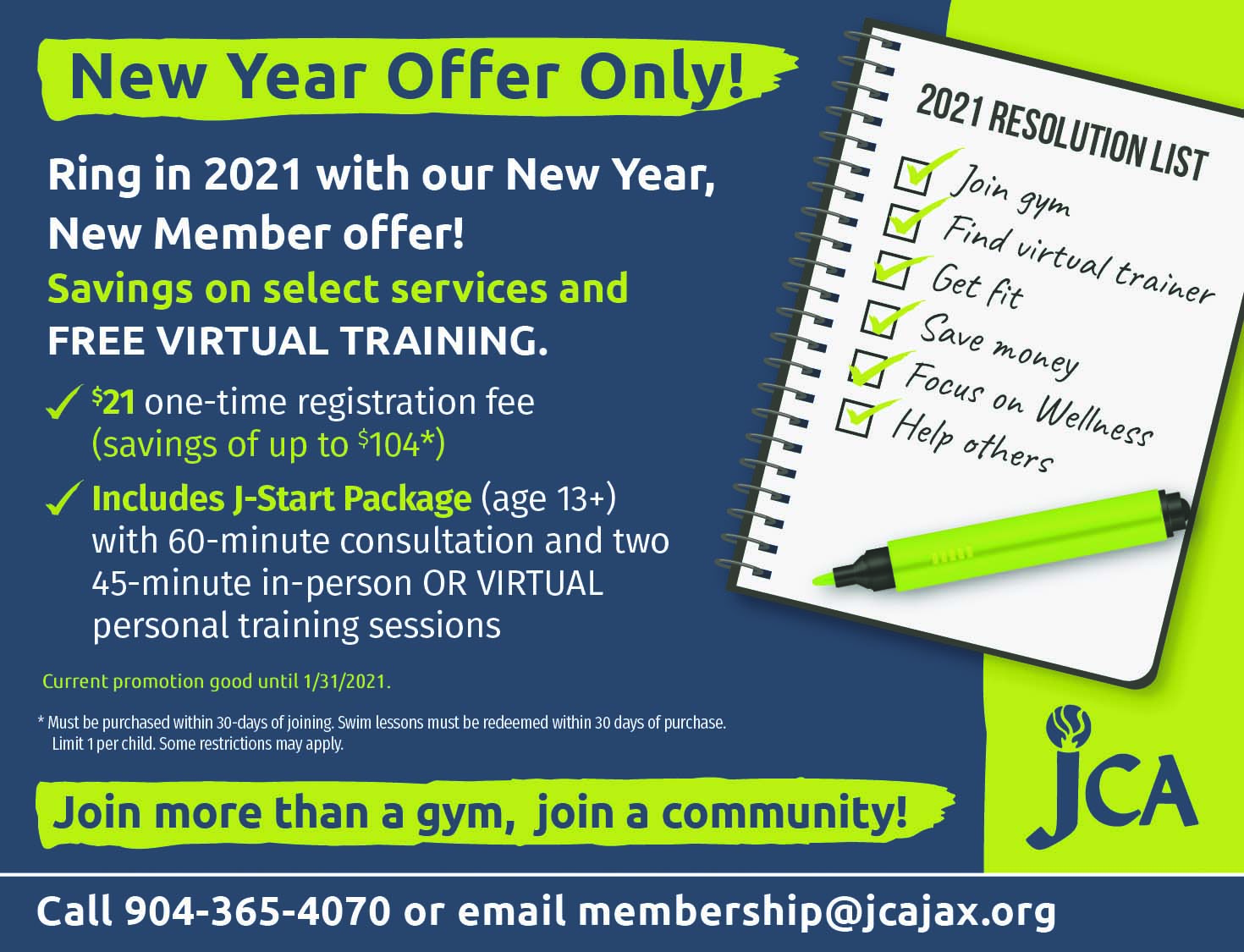 JCA Jopin more than a gym Join a community!
