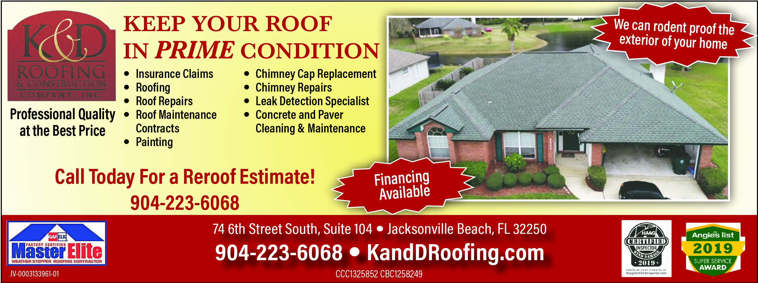 K&D Roofing & Construction Professional quality at the best price