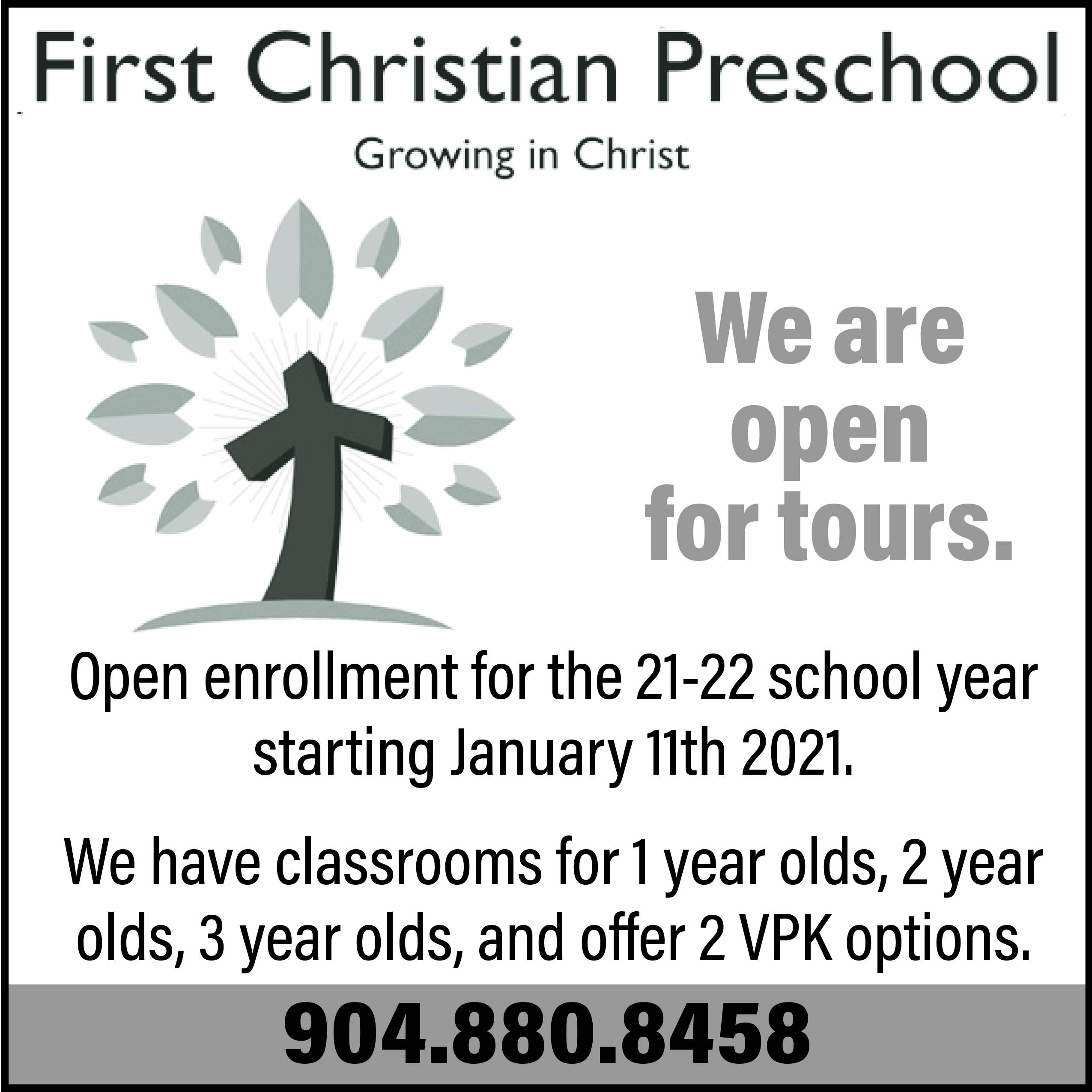 First Christian Preschool We are open for tours!
