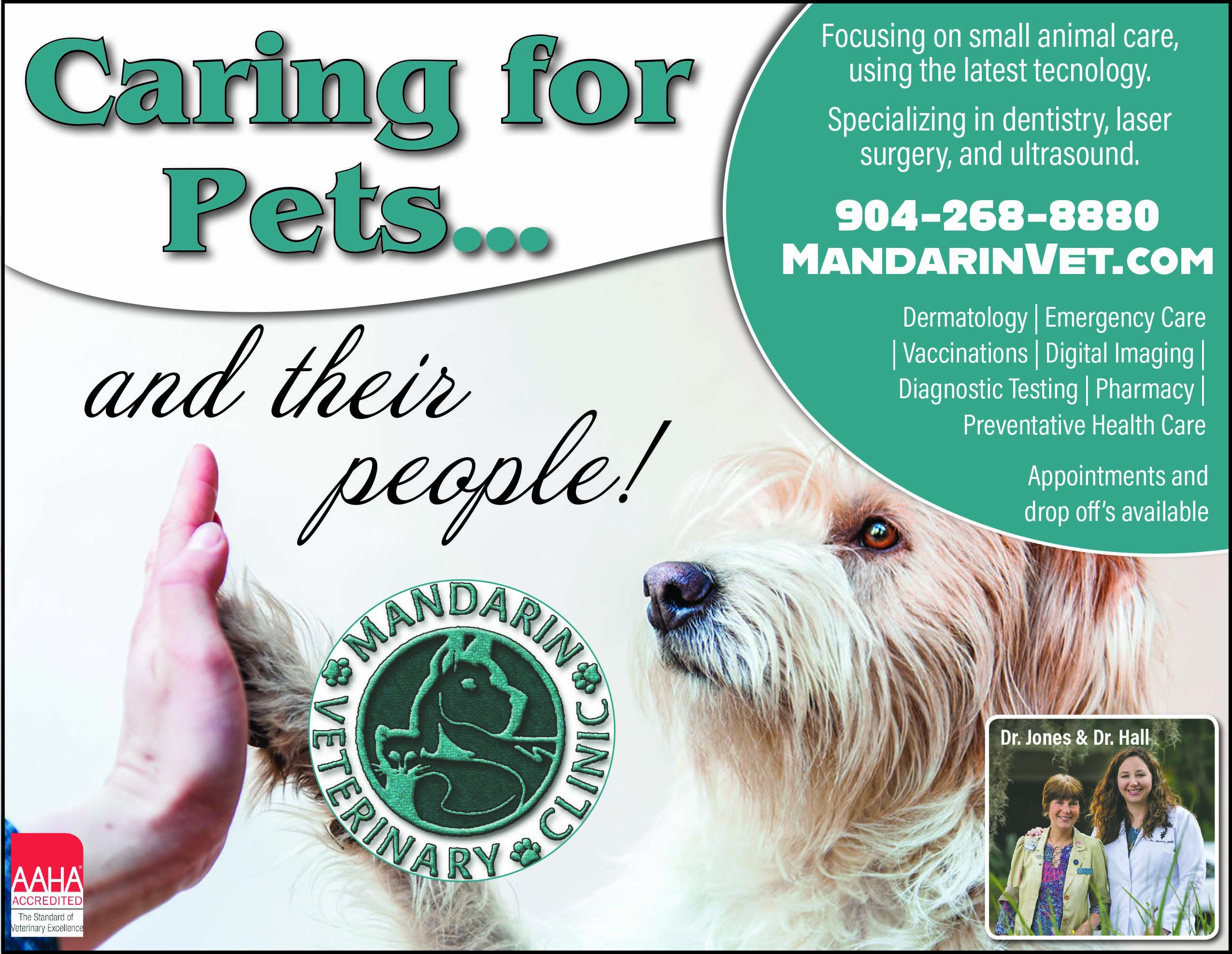 Mandarin Veterinary clinic. Caring for pets!