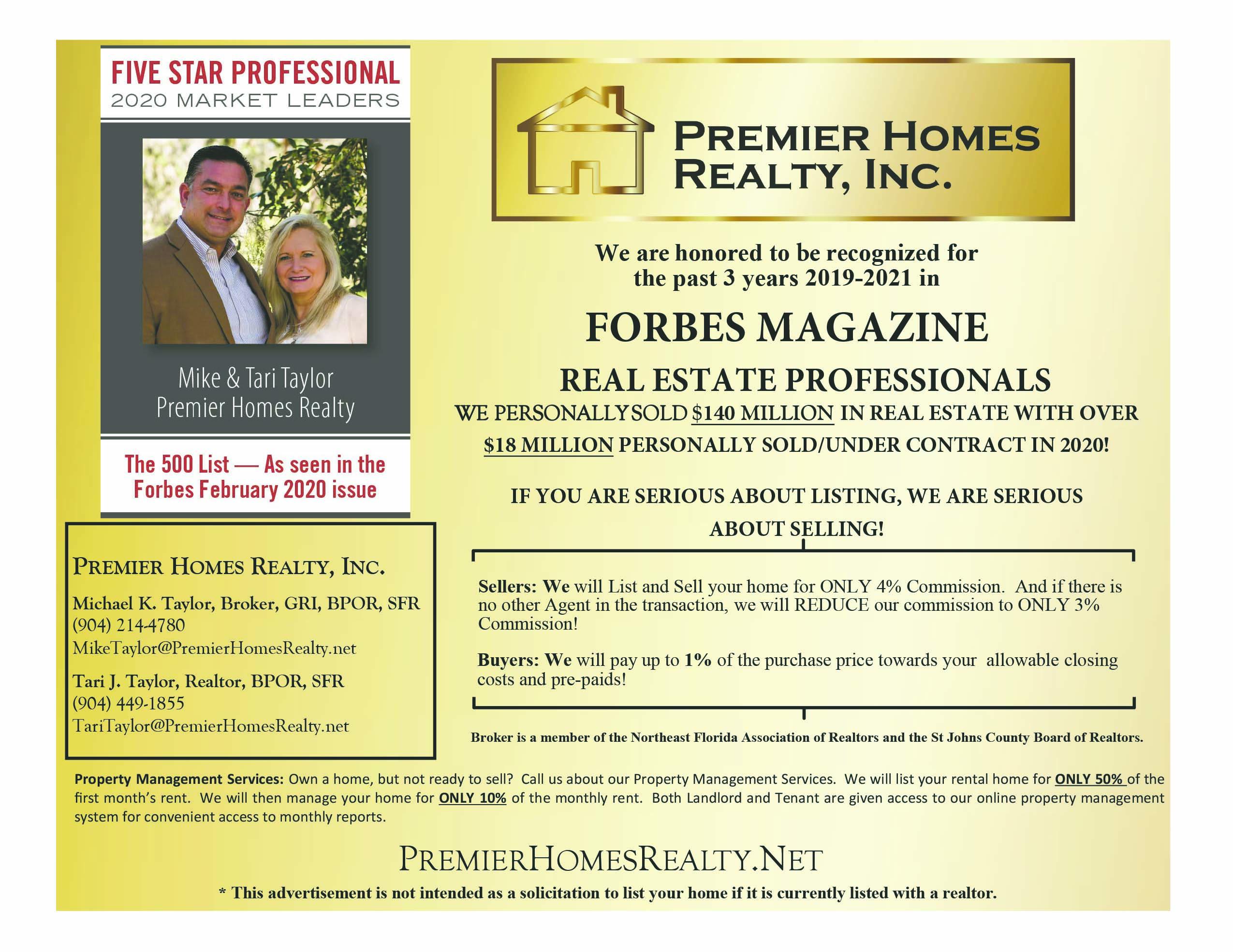 Premier Homes Realty Inc. Michael Taylor and Tari Taylor